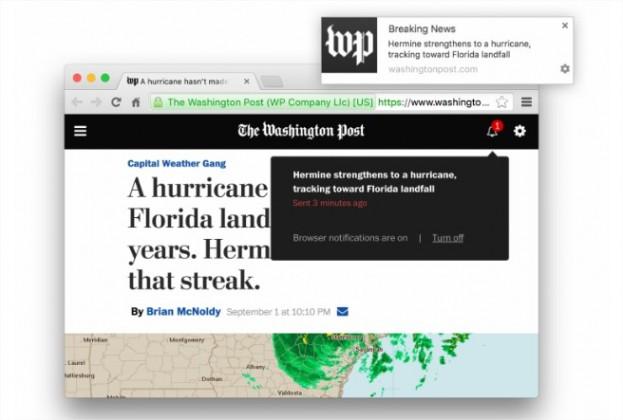 Periodismo digital y alertas en navegadores